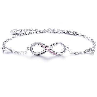 Billie Bijoux Womens 925 sterling Silver Infinity Endless Love Symbol Charm Adjustable Bracelet Mother's Day nCDEITBA