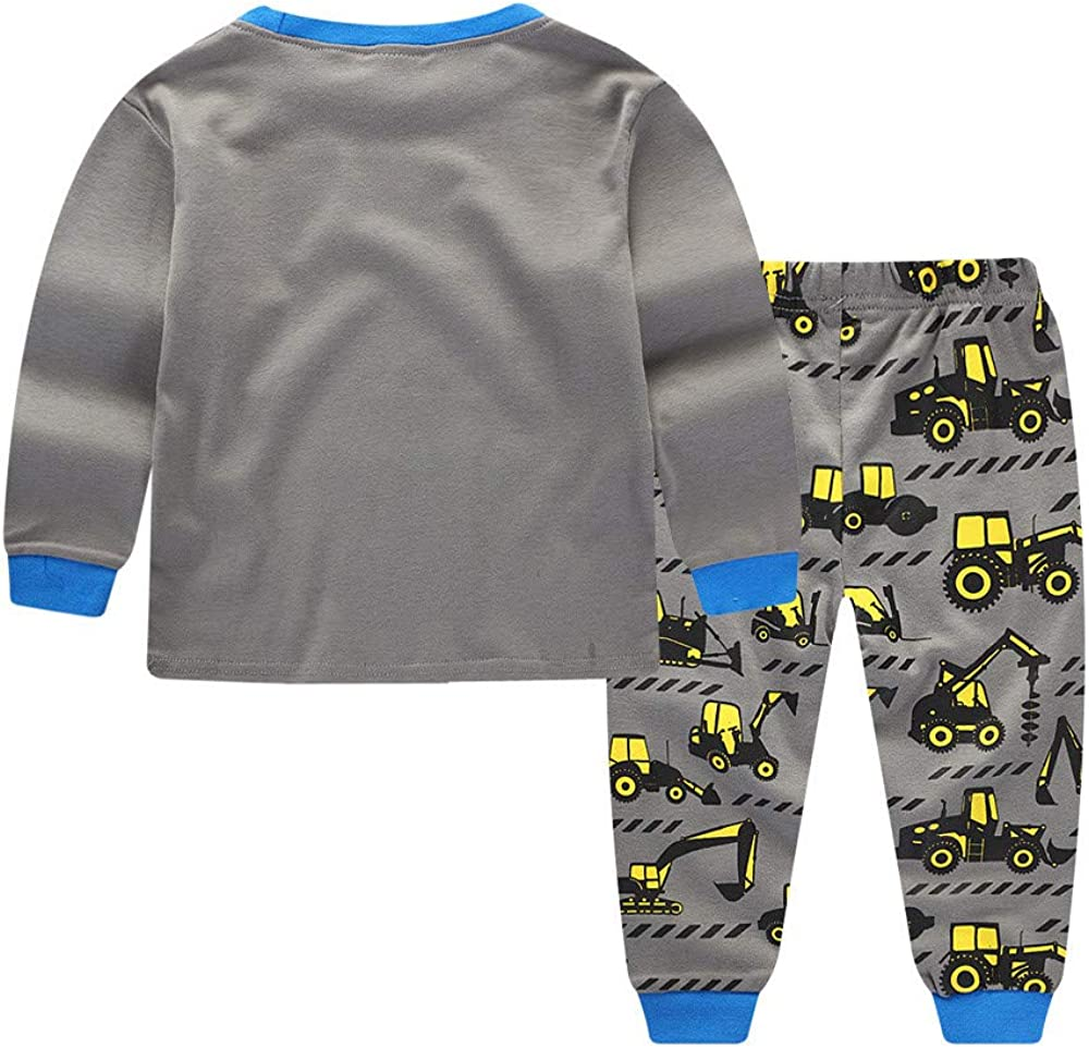 Pants Outfits Clothes 1-6 Years Kids Infant Baby Boys Tractors Print Cartoon Tops erthome Baby Boys Clothes