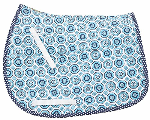 Equine Couture Kelsey All Purpose Saddle Pad Aqua STD (Equine Couture Kelsey)