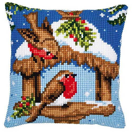 Vervaco Robin Pillow Cover Needlepoint Kit