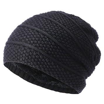 DIKEWANG Unisex Winter Warm Hat Men Women Baggy Warm Crochet Winter Wool  Knit Ski Beanie Skull 49ef658828b6
