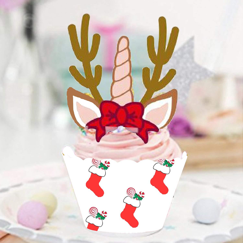 Sayala 30Pcs Remolino del Espiral de la Navidad Navidad Invierno Decoraciones de Fiesta,