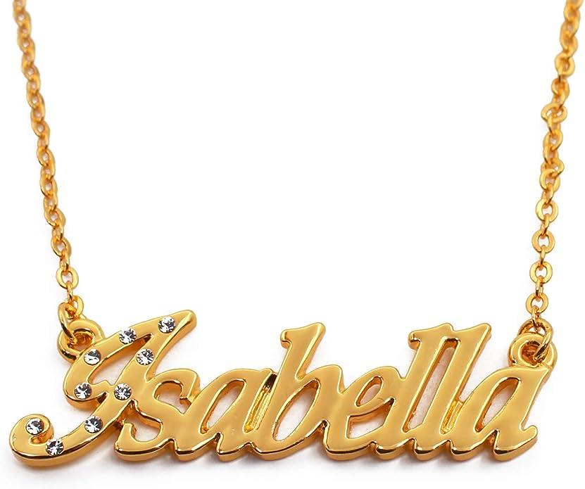 Zacria Italic Name Necklace Alejandra Silver Tone