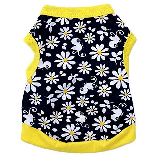 Pet T-Shirt, Dog Summer Apparel Puppy Pet Clothes for Dogs Cute Soft Vest]()