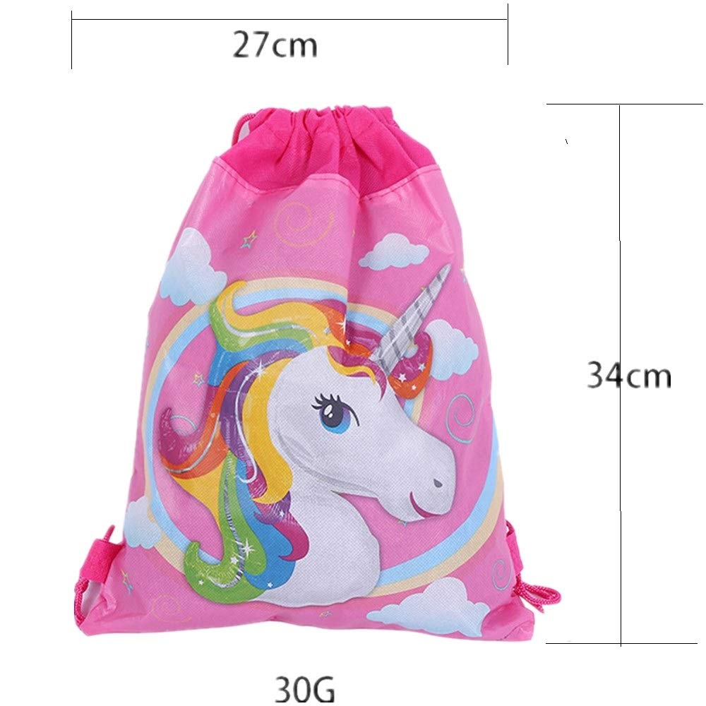 12 Pack Unicorn Gift Bags Halloween Candy Bags for Holiday Birthday Halloween Christmas New Year Drawstring Party Bag,10.6'' * 13.4'' (Pattern A) by EALUN (Image #3)