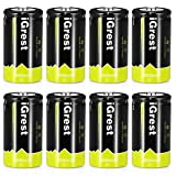 iGrest Rechargeable C Batteries 5000mah Nimh C Size Cell battery with Box (8 Pack)