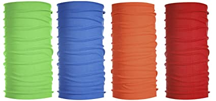 7b6c7d246ce TETA Kalily 4 Pack Solid Color Moisture Wicking Headwear Bandana Neck Gaiter  (Pack 8)