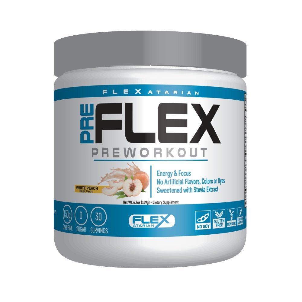 Flexatarian Pre-Flex, All-Natural Preworkout Formula, White Peach, 30 Servings