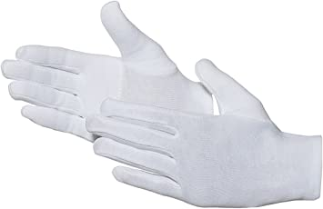 Jah 580 algodón Guante, que garantiza, nivel intermedio, fortalece, color blanco, tamaño 13, 24 unidades): Amazon.es: Bricolaje y herramientas