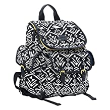 Carter's Baby Go Backpack Diaper Bag, Black/White