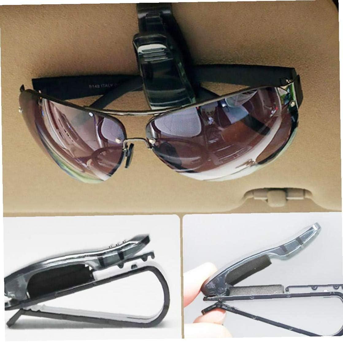 Iaywayii Premium-Sonnenblende Auto Schwarz Brille Brillen Clip-Halter Ticket Car Sonnenbrille Ticket Receipt-Klipp-Speicher-Halter Halter Halterung