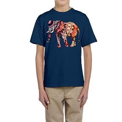 Huazh Youth Cotton T-Shirts Boys Colorful Elephant Athletic Shirt Short Sleeve Tees