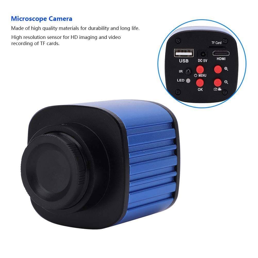 EU Plug Telecamera per Microscopio Industriale OBiettivi Industriali 100-240V 16 Milioni di Pixel 1080p Telecamera per Microscopio
