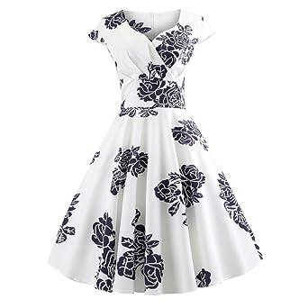 Nueve Vintage vestido , Yes Mile Vintage Años 50 flores Swing ...
