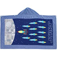 InsHere 100% Cotton Kids Hooded Towel Stars War for Boys Girls, Extra Large After Bath Wrap Towel with Hood for Big Kids…