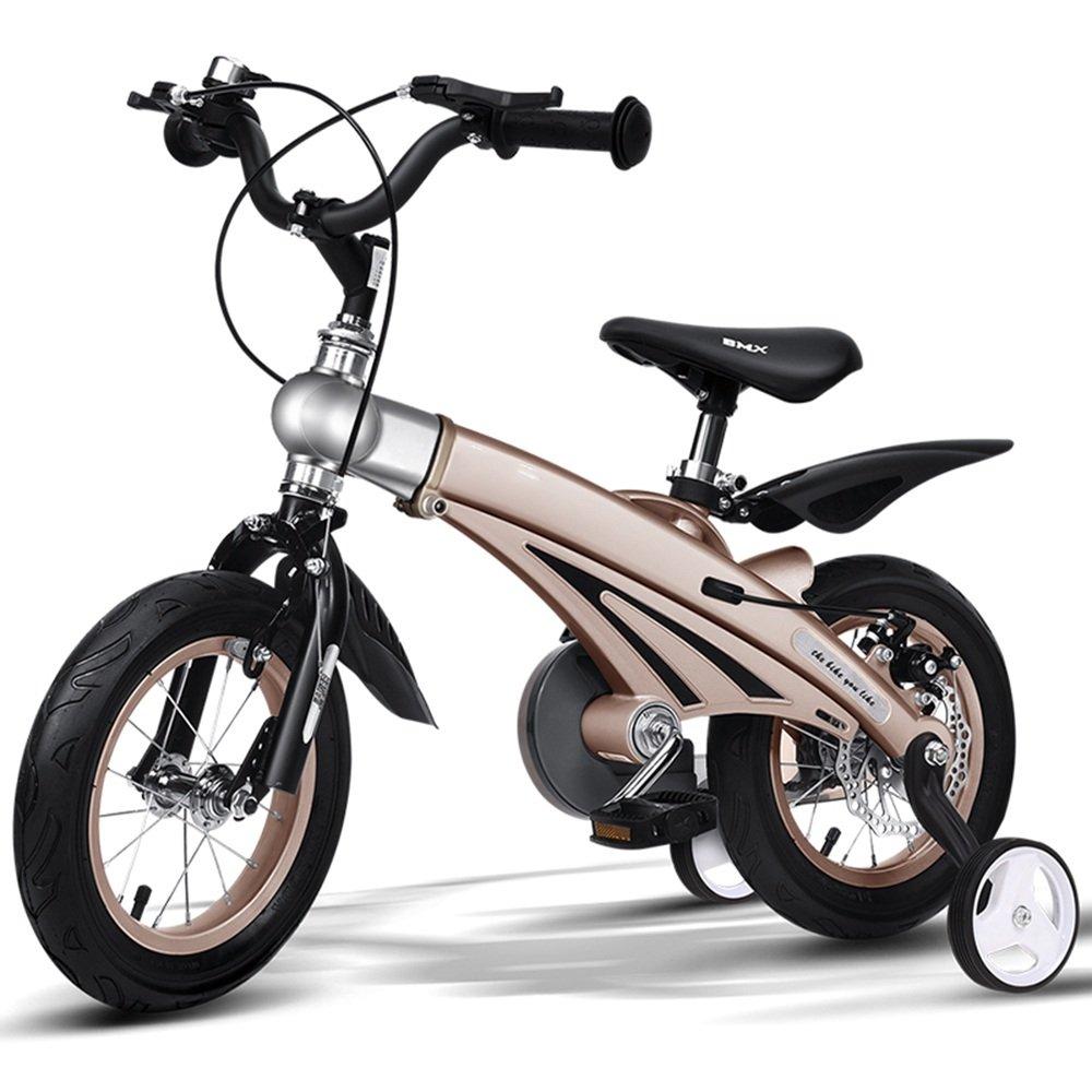 HAIZHEN マウンテンバイク 定価 子供の自転車男の子の女の子の自転車12 14 16インチ乳母車マウンテンバイク子供の自転車拡張長マグネシウム合金 inch 新生児 B07C45B4NB ゴールド 激安特価品