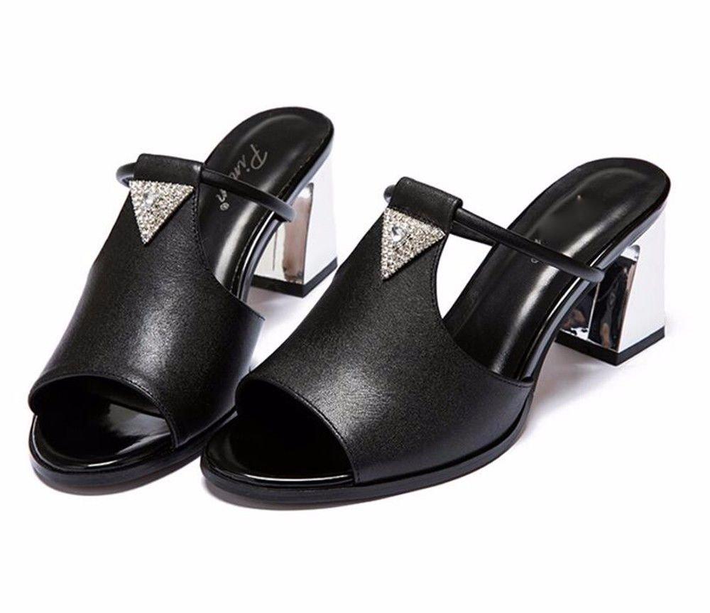 HBDLH Grob Hacken Zehen Coole Coole Coole Schuhe Damenschuhe Sommer Das Wasser Läuft 78Cm High Heels Sandaletten. 812d06