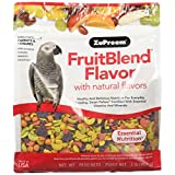 ZuPreem ZP83020 Fruitblend Medium/Large Parrot/Conure Caged Bird Food, 2-Pound
