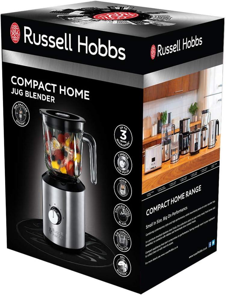 Russell Hobbs. Licuadora Compact plateado/negro: Amazon.es: Hogar