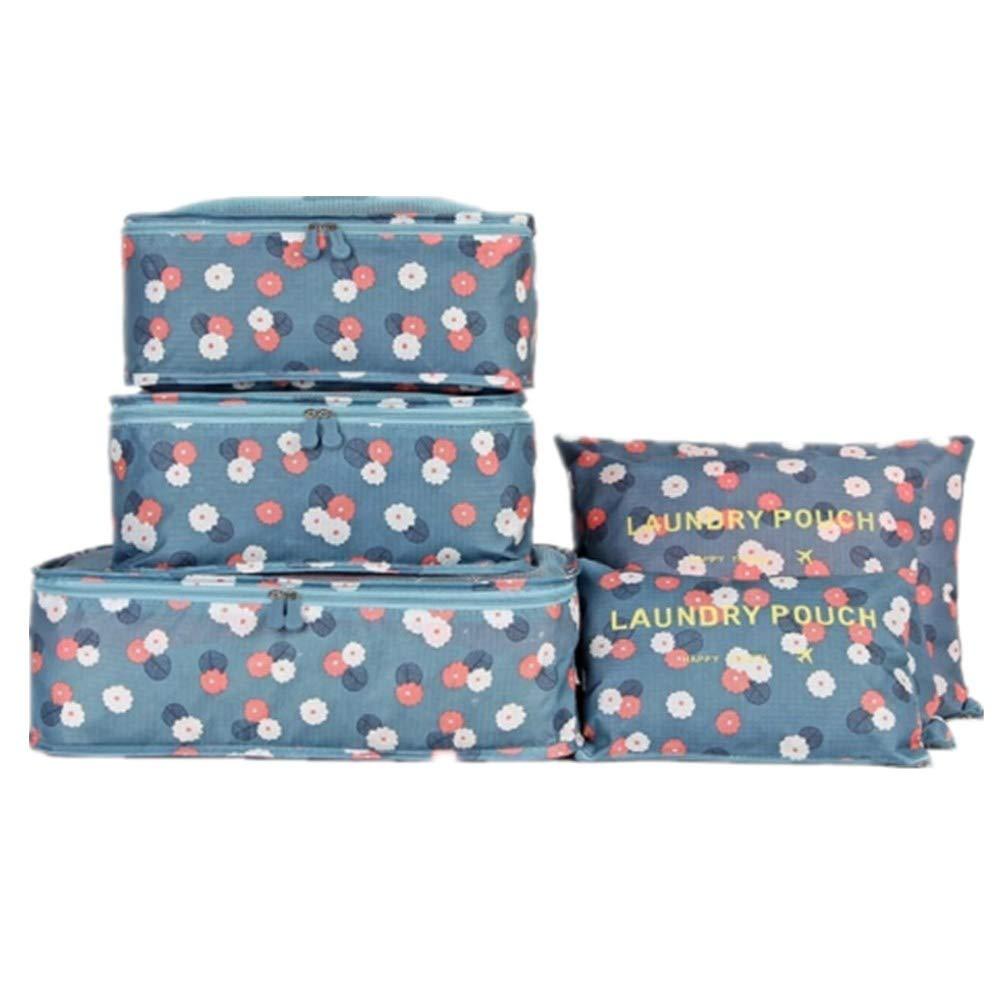 Set de 6 unidades organizadores de equipaje (varios colores)