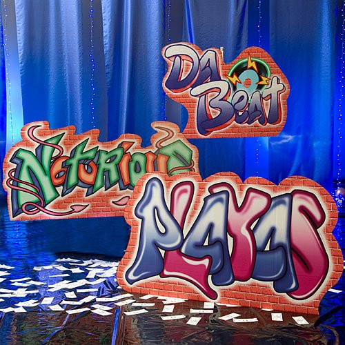 54 in. Hip Hop Graffiti Sign Standees Standup Photo Booth Prop Background Backdrop Party Decoration Decor Scene Setter Cardboard ()
