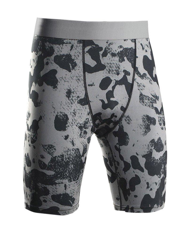 SaiDeng Uomo Camuffare Fitness Pantaloni Elastico Compressione Quick Dry Pantaloncini