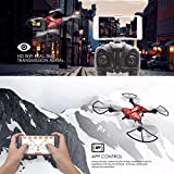 Nesee TK110HW Portable Foldable Aircraft With WIFI 0.3PM Camera FPV Unreal Image (Red)