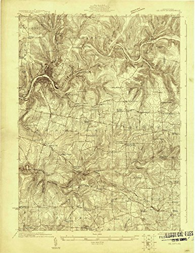YellowMaps Oil City PA topo map, 1:48000 scale, 15 X 15 Minute, Historical, 1922, 26.9 x 20.7 IN - ()