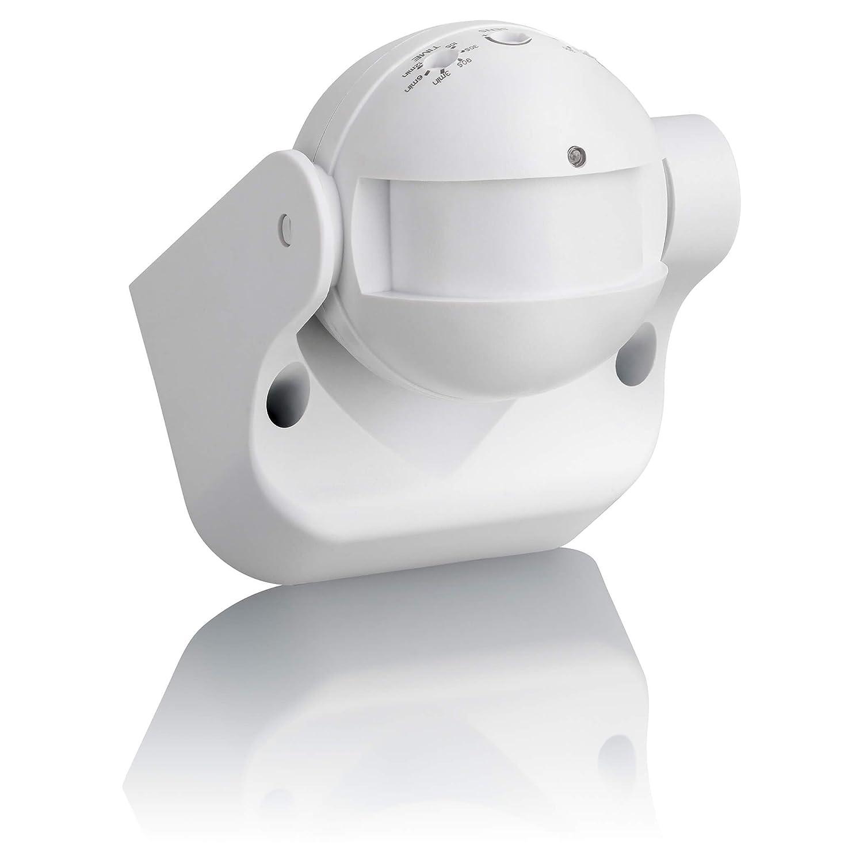 sebson D/étecteur de Mouvement ext/érieur IP54 LED adapt/é 87x93x60mm Montage Mural orientable programmable port/ée 15m//180/° HF capteur