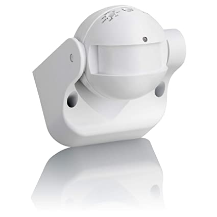 Sebson® Detector de Movimiento Exterior, IP54, HF Sensor, Montaje en Pared, programable, Alcance 15m / 180°, LED Adecuado, orientable, 87x93x60