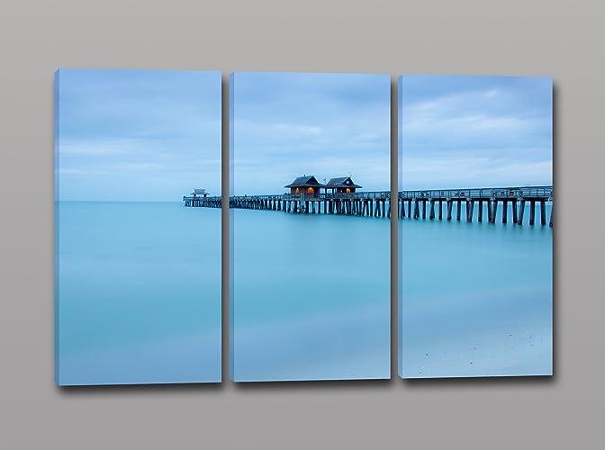tris quadri moderni stampa su tela paesaggio naturale quadro ... - Arredamento Moderno Naturale