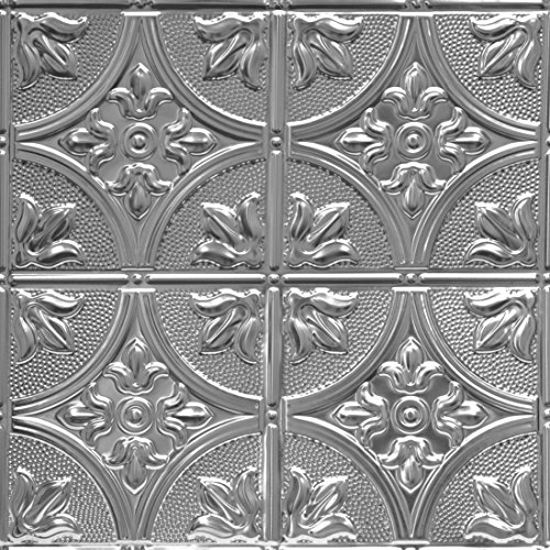 Shanko ST309DA Pattern 309 Authentic Pressed Metal Wall and Ceiling Tiles, 20 sq. ft., Unfinished Steel