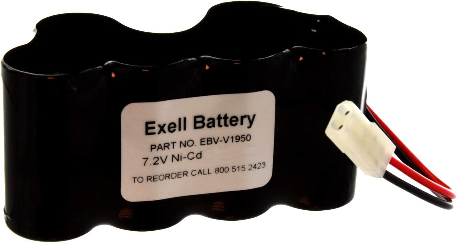 Exell Vacuum Battery 7.2V NiCD Battery for Shark V1950 VX3 XB1918