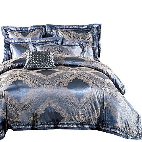 MKXI Soft Textile Bedding Modern Duvet Cover Set Sateen Cotton Queen Size Match - Comforter Satin Set Queen