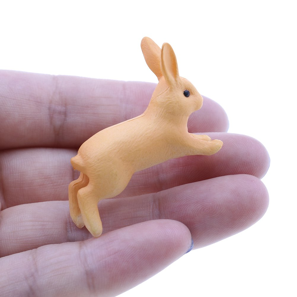 OneYANG 2 PCS Miniature Resin Rabbit Fairy Garden Decor Pot Micro Landscape Ornament
