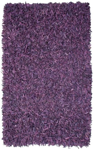 Purple Leather Shag 30″x50″ Rug