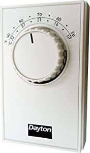Line Voltage Mechanical Thermostat, Cooling, 120 to 277VAC, 1 Stage