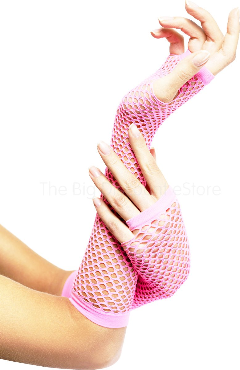 LONG FISHNET GLOVES PARTY FANCY DRESS TUTU (Baby Pink) Underground Kulture