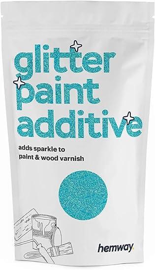 Hemway Additivo Glitter Per Pittura A Emulsione A Base D Acqua 110g Azzurro Pastello Amazon It Fai Da Te
