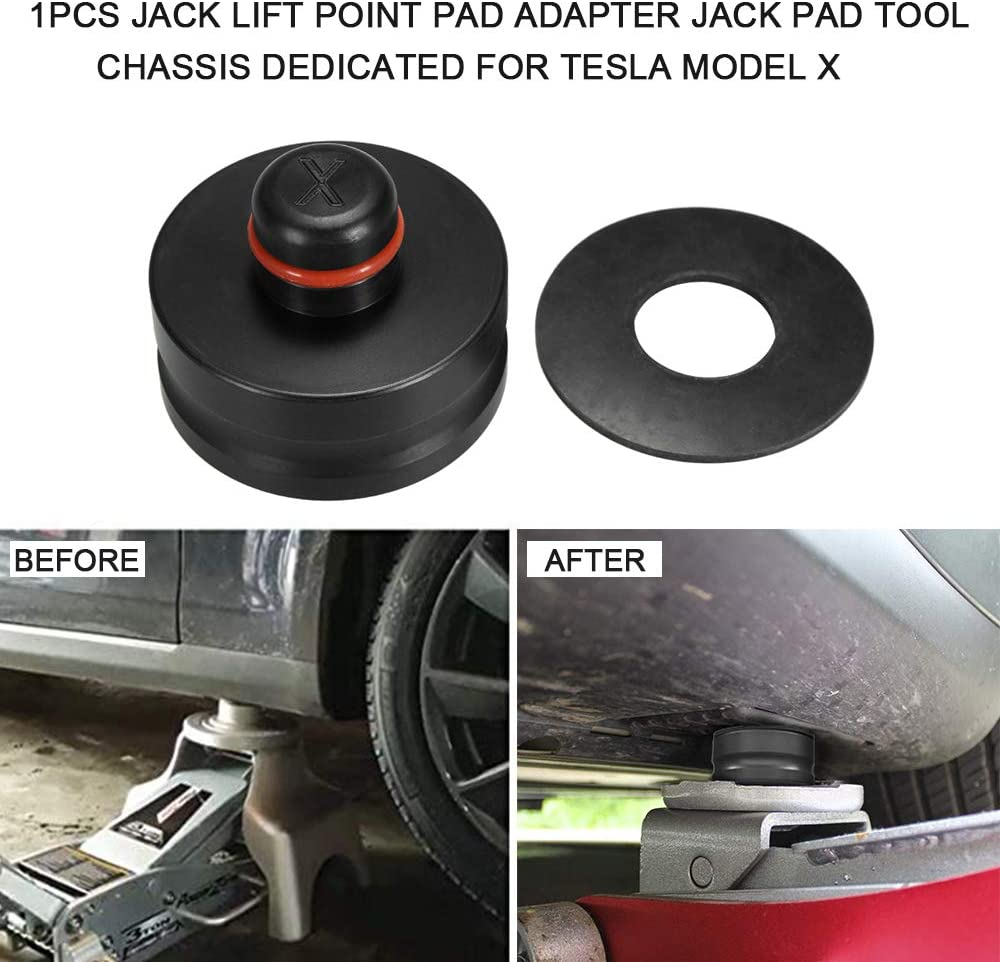 Moligh doll 4Pcs Rubber Lifting Jack Pad Tool Chassis with Storage Case for Tesla Model 3 Model S Model X Car Accessories