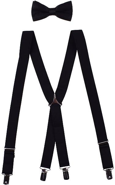 Amazon.com: Pajarita y tirantes ajustable Suspender de boda ...