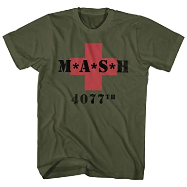 edf7e0a1 Amazon.com: Mash Men's M.A.S.H. 4077th Red Cross T-Shirt: Clothing