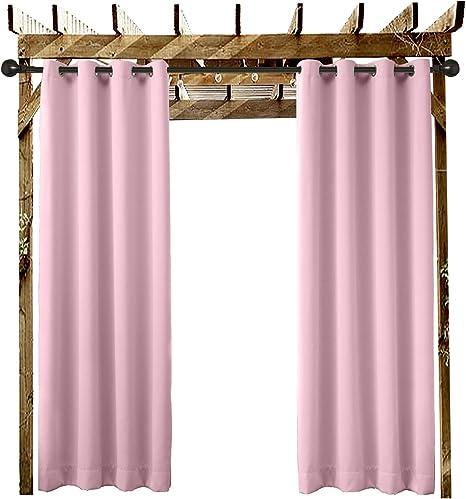 Al aire libre cortina Ojal de bronce antiguo con ojales Beige 100