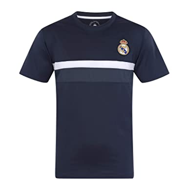 881e752a9 Real Madrid FC Official Football Gift Boys Poly Training Kit T-Shirt   Amazon.co.uk  Clothing