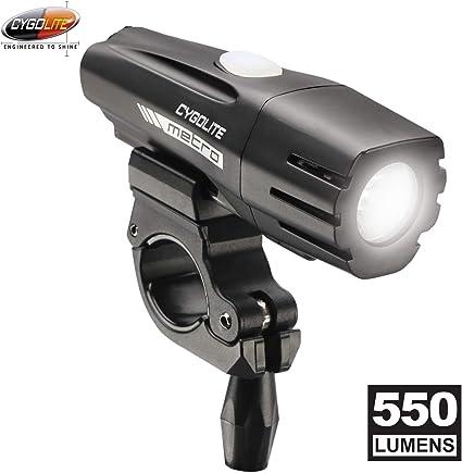 Powerful Lumen Bicycle Headlight Cygolite Metro 550 USB Rechargeable Bike Light