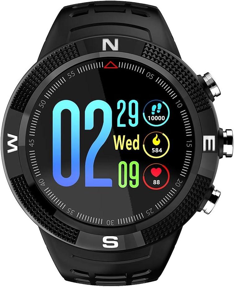 Zerone Fitness Tracker Reloj Deportivo GPS al Aire Libre Smartwatch Pulsera Impermeable Pedometer para Monitor de sueño Condición de Salud Smartwatch(Negro)