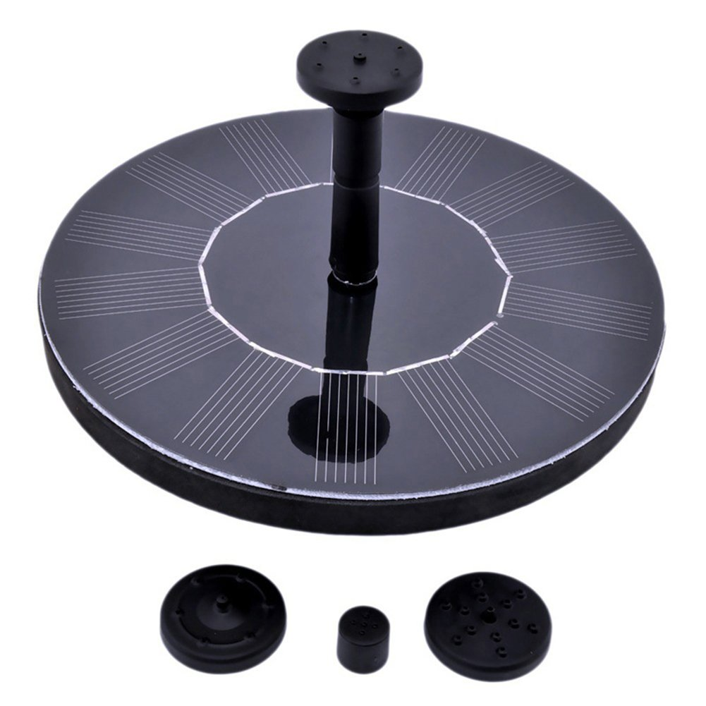 jxwstar Solar Fountain,Floating Solar Pump Bird Bath Fountain Self powered For Garden and Patio Watering