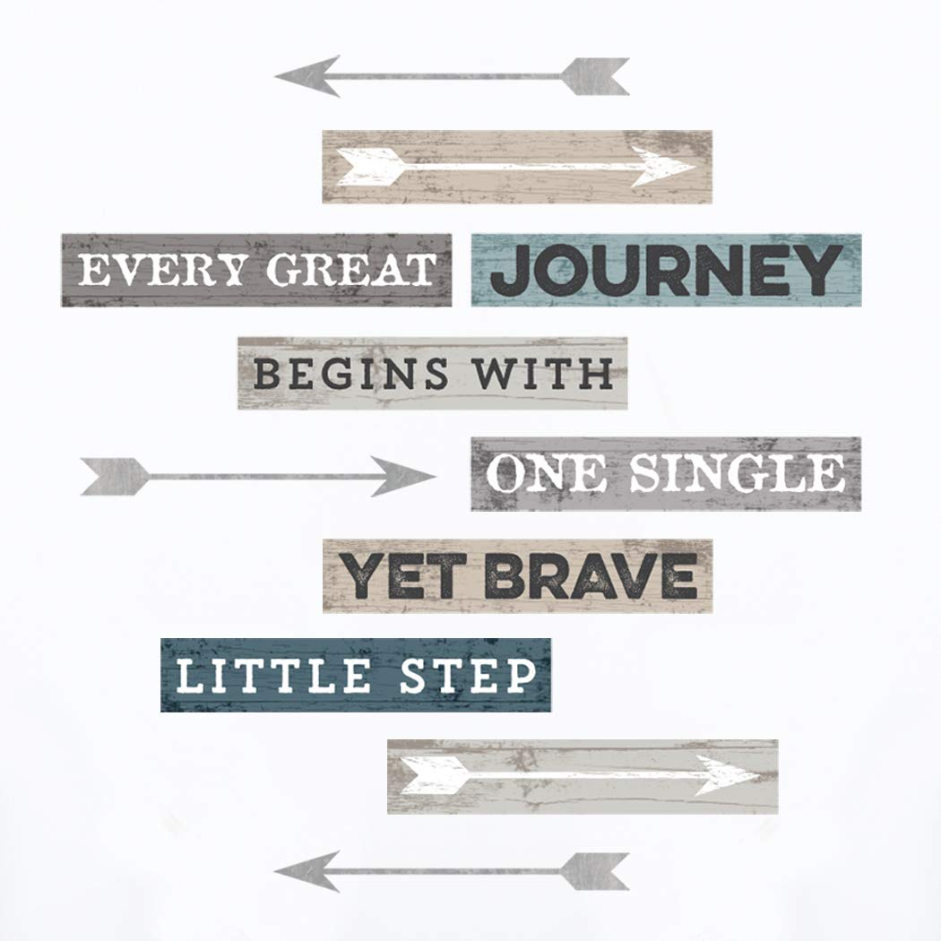 Wall Decor - Inspirational Quote. Peel and Stick Wall Decals - Easy To Remove Vinyl Quote - Every Great Journey Begins With One Single Yet Brave Little Step. by Paper Riot Co.
