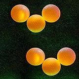 TOWAY 6個入りLEDライトアップゴルフボールナイトゴルフボール2層ソフトテクスチャ公式サイズグローインゴルフの長距離撮影に最適(ピンク/グリーン/ブルー/レッド/ホワイト/オレンジ)