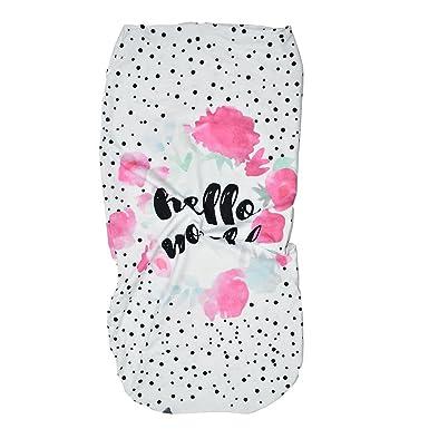 ... Manto Envolvente Recién Nacido Manta Carta Florales Estampado Swaddle Wrap + Venda de Pelo Conjunto 0-12 Meses Infantil Envolver Toalla: Amazon.es: Ropa ...